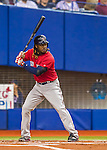 1 April 2016: Boston Red Sox infielder Hanley Ramirez in action during a pre-season exhibition series between the Toronto Blue Jays and the Boston Red Sox at Olympic Stadium in Montreal, Quebec, Canada. The Red Sox defeated the Blue Jays 4-2 in the first of two MLB weekend games, which saw an attendance of 52,682 at the former home on the Montreal Expos. Mandatory Credit: Ed Wolfstein Photo *** RAW (NEF) Image File Available ***