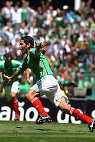 Action photo of Israel Castro of Mexico, during World  Cup 2010 qualifier game against USA at the Azteca Stadium./Foto de accion de Israel Castro de Mexico, durante juego eliminatorio de Copa del Mundo 2010 en el Estadio Azteca. 12 August 2009. MEXSPORT/OMAR MARTINEZ
