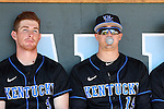 19 February 2017: Kentucky's Tyler Marshall (3) and Evan White (19). The University of North Carolina Tar Heels hosted the University of Kentucky Wildcats in a College baseball game at Boshamer Stadium in Chapel Hill, North Carolina. UNC won the game 5-4.