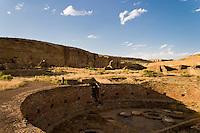 The Chetro Ketl great kiva in Chaco Culture National Historical Park, New Mexico.