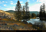 Lamar River at Sunrise in Autumn, Yellowstone National Park, Wyoming