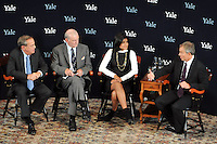 Tony Blair, UK Prime Minister at Yale University in conversation with President Richard Levin, Paul Kennedy & Lita Tandon on Sept. 19, 2008 in Woolsey Hall on the Yale Campus.