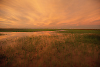 Sunset over the South Aligator Flood Plains near kakadu National Park