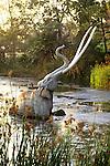 Mammoth figure at the La Brea Tar Pits in Los Angeles, CA
