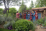 The Basotho Diaspora Choir perform on Sentebale - Hope in Vulnerability garden at Chelsea flower Show<br /> <br /> 18.5.15<br /> Bethany Clarke / RHS