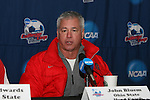 15 December 2007: Ohio State head coach John Bluem. The Ohio State Buckeyes held a press conference at SAS Stadium in Cary, North Carolina one day before playing in the NCAA Division I Mens College Cup championship game.