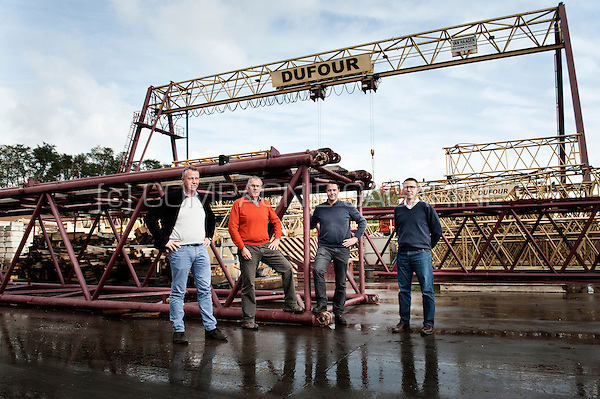 Olivier Dufour, Christian Dufour, Frédéric Dufour and Philippe Dufour from the Groupe Dufour construction company (Belgium, 22/10/2014)