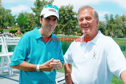 Alice Cooper and Pat Boone at the 9th Alice Cooper Golf Tournament in Scottsdale to benefit his Solid Rock Foundation Charity, May 2nd 2005. phoo by Chris walter/Photofeatures.