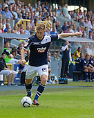 James Henry, Millwall FC prepares to cross during the closing stages as Millwall try and get something from the game - Millwall vs Blackpool - NPower Championship Football at the New Den, London - 18/08/12 - MANDATORY CREDIT: Ray Lawrence/TGSPHOTO - Self billing applies where appropriate - 0845 094 6026 - contact@tgsphoto.co.uk - NO UNPAID USE.