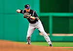 22 April 2010: Colorado Rockies' second baseman Clint Barmes in action during a game against the Washington Nationals at Nationals Park in Washington, DC. The Rockies shut out the Nationals 2-0 gaining a 2-2 series split. Mandatory Credit: Ed Wolfstein Photo