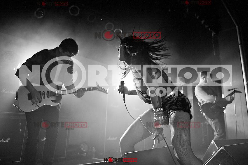 Sleigh Bells en concierto realizado en Saint Andrews Hall en Detroit, Michigan el 25 de abril de 2012.<br />  (*&copy;JoeGall/MediaPunch/NortePhoto.com*)