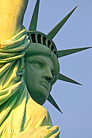 Staue of Liberty at dusk frontal view