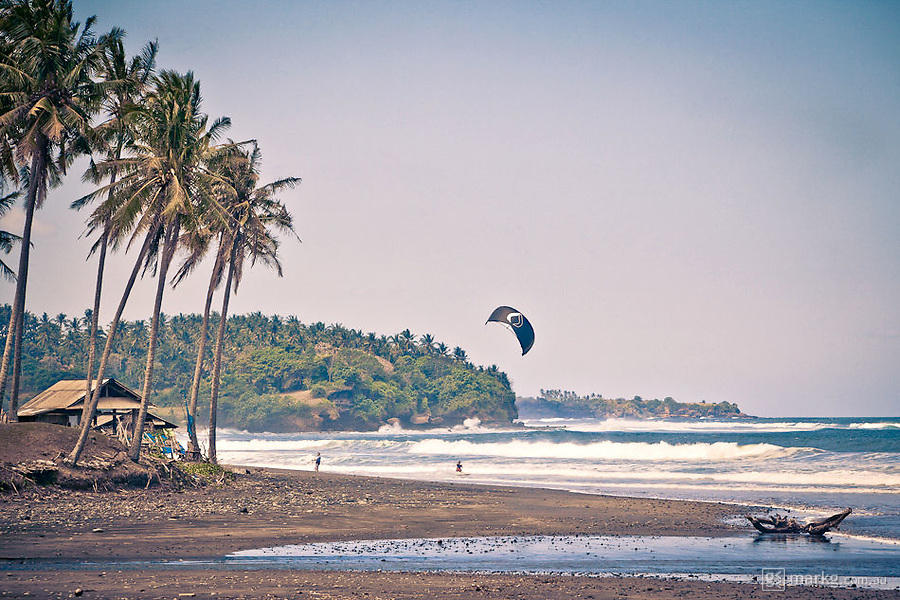 Balian is also a great spot for kitesurfing when the thermal winds come in just after lunch.
