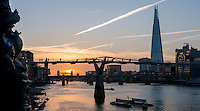Sunrise over the River Thames this morning 22- Oct 2014.<br />