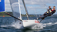 ENGLAND, Falmouth, Restronguet Sailing Club, 9th September 2009, International 14 Prince of Wales Cup Week, POW Cup Race, GBR1508 Colin Smith and Louise Hickey