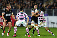 Elliott Stooke of Bath Rugby takes on the Cardiff Blues defence. European Rugby Challenge Cup match, between Bath Rugby and Cardiff Blues on December 15, 2016 at the Recreation Ground in Bath, England. Photo by: Patrick Khachfe / Onside Images