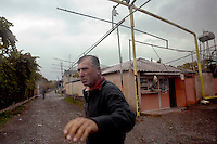 A villager living on the outskirts of South Ossetia, near Gori...