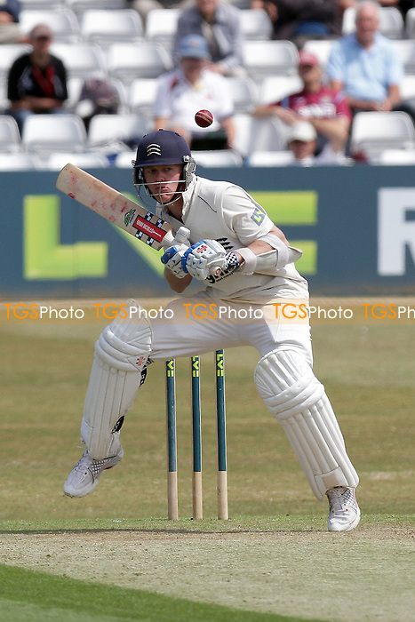 Sam Robson of Middlesex evades a David Masters delivery - Essex CCC vs Middlesex CCC - LV County Championship Division Two cricket at the Ford County Ground, Chelmsford - 24/05/11 - MANDATORY CREDIT: Gavin Ellis/TGSPHOTO - Self billing applies where appropriate - Tel: 0845 094 6026