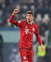 FUSSBALL CHAMPIONS LEAGUE  SAISON 2015/2016 ACHTELFINAL HINSPIEL Juventus Turin - FC Bayern Muenchen             23.02.2016 Thomas Mueller (FC Bayern Muenchen)
