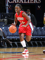 Dec. 6, 2010; Charlottesville, VA, USA;  Radford Highlanders guard Breshara Gordon (12) drives down the court during the game against the Virginia Cavaliers at the John Paul Jones Arena.  Mandatory Credit: Andrew Shurtleff