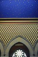 Frank Furness: Pennsylvania Academy of Fine Arts--Interior detail.  Photo '76.