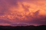 Billowing clouds at sunset near Missoula, Montana