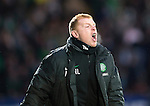 St Johnstone v Celtic...07.05.14    SPFL<br /> Neil Lennon screams at his players<br /> Picture by Graeme Hart.<br /> Copyright Perthshire Picture Agency<br /> Tel: 01738 623350  Mobile: 07990 594431