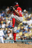 04/29/12 Los Angeles, CA: Washington Nationals relief pitcher Craig Stammen #35 during an MLB game between the Washington Nationals and the Los Angeles Dodgers played at Dodger Stadium. The Dodgers defeated the Nationals 2-0.