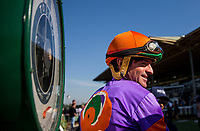 ARCADIA, CA - MARCH 11: Jockey, Kent Desormeaux weighs out after a race at Santa Anita Park  on March 11, 2017 in Arcadia, California. (Photo by Alex Evers/Eclipse Sportswire/Getty Images)