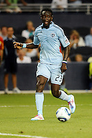 Kei Kamara Sporting KC midfielder in action... Sporting KC defeated San Jose Earthquakes 1-0 at LIVESTRONG Sporting Park, Kansas City, Kansas.