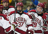 Desmond Bergin (Harvard - 37), Jimmy Vesey (Harvard - 19) - The Harvard University Crimson defeated the Princeton University Tigers 3-2 on Friday, January 31, 2014, at the Bright-Landry Hockey Center in Cambridge, Massachusetts.