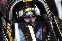 Jun. 17, 2011; Bristol, TN, USA: NHRA top fuel driver Bob Vandergriff Jr during qualifying for the Thunder Valley Nationals at Bristol Dragway. Mandatory Credit: Mark J. Rebilas-