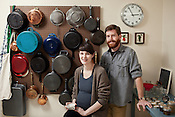 Ben Filippo and Ali Rudel of This & That Jam, in their home kitchen, Chapel Hill, NC, November 26, 2011. ..Photo by D.L. Anderson