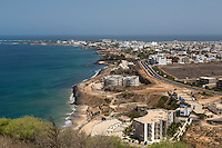 Dakar, Senegal.  Les Almadies, a Dakar suburb.  The westernmost point of the African continent is in the far left distance.  The airport runway is just out of sight on the right side of the picture.