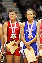 (L to R) Kaori Icho, Seiko Yamamoto, December 23, 2011 - Wrestling : All Japan Wrestling Championship, Women's Free Style -63kg Final at 2nd Yoyogi Gymnasium, Tokyo, Japan. (Photo by Daiju Kitamura/AFLO SPORT) [1045]