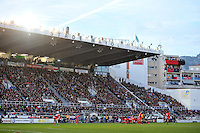 A general view of a scrum at the Stade Mayol. European Rugby Champions Cup match, between RC Toulon and Bath Rugby on January 10, 2016 at the Stade Mayol in Toulon, France. Photo by: Patrick Khachfe / Onside Images