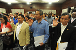 A naturalization ceremony in federal court in Oxford, Miss. on Friday, June 29, 2012. Forty seven persons took the oath of citizenship.
