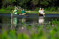 Algonquin Park, Ontario, Canada, July 2006. Paddling the crow river. The Algonquin Provincial Park consists of many lakes that can be explored by canoe and which are connected by portages. Photo by Frits Meyst/Adventure4ever.com