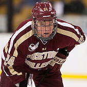 Bill Arnold (BC - 24) - The Boston College Eagles defeated the Harvard University Crimson 4-1 in the opening round of the 2013 Beanpot tournament on Monday, February 4, 2013, at TD Garden in Boston, Massachusetts.