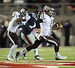 Texas A&amp;M quarterback Johnny Manziel (2) rushes v. Mississippi in Oxford, Miss. on Saturday, October 6, 2012. (AP Photo/Oxford Eagle, Bruce Newman)..