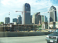 Downtown Dallas with Construction in Foreground
