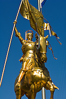 Joan of Arc, Maid of Orleans statue in the French Market, French Quarter, New Orleans, Louisiana, USA