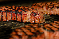 Steaks and sausages