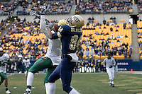 Pitt Panthers wide receiver Maurice Williams hauls in a 37-yard touchdown reception. Despite the catch the South Florida Bulls were able to defeat the Panthers 48-37 on November 24, 2007 at Heinz Field in Pittsburgh, Pennsylvania.