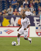 DC United defender Julius James (2). The New England Revolution defeated DC United, 1-0, at Gillette Stadium on August 7, 2010.