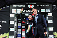 Picture by Simon Wilkinson/SWpix.com - 16/05/2017 - Cycling - Tour Series Round 4, Wembley - Matrix Fitness Grand Prix - Drops Cycing Rebecca Durrell wins the Eisbergwine Sprinter on the evening.