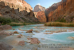 Afternoon light dances upon the canyon, as turquoise waters whisper past. Just below big canyon on the Little Colorado River, AZ