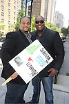 Sean Ringgold and a fan attending The One Life to Live.43rd Anniversary Block Party outside the ABC Studio on July 15, 2011 in New York City.