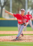 29 February 2016: Washington Nationals pitcher Trevor Gott on the mound during an inter-squad pre-season Spring Training game at Space Coast Stadium in Viera, Florida. Mandatory Credit: Ed Wolfstein Photo *** RAW (NEF) Image File Available ***