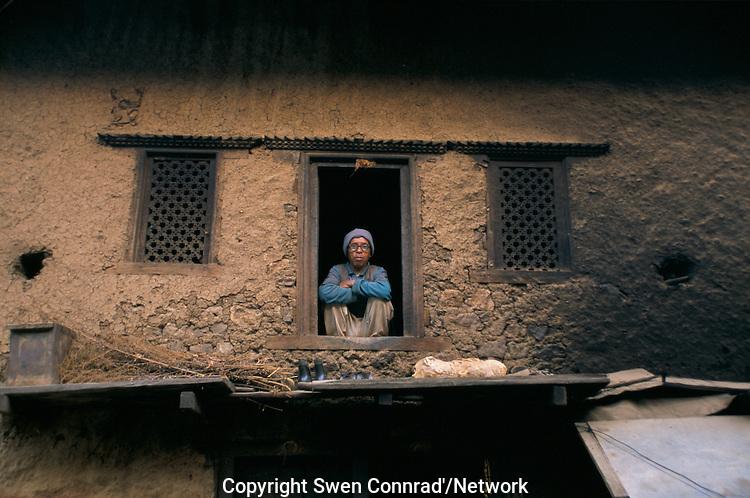A Nepali farmer in Rolpa District